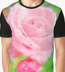 Pink Roses in Anzures 2 Serene Graphic T-Shirt