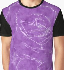 Pink Roses in Anzures 2 Outlined Purple Graphic T-Shirt