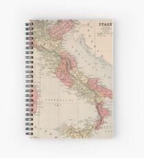 Vintage Karte von Italien (1883) Spiralblock