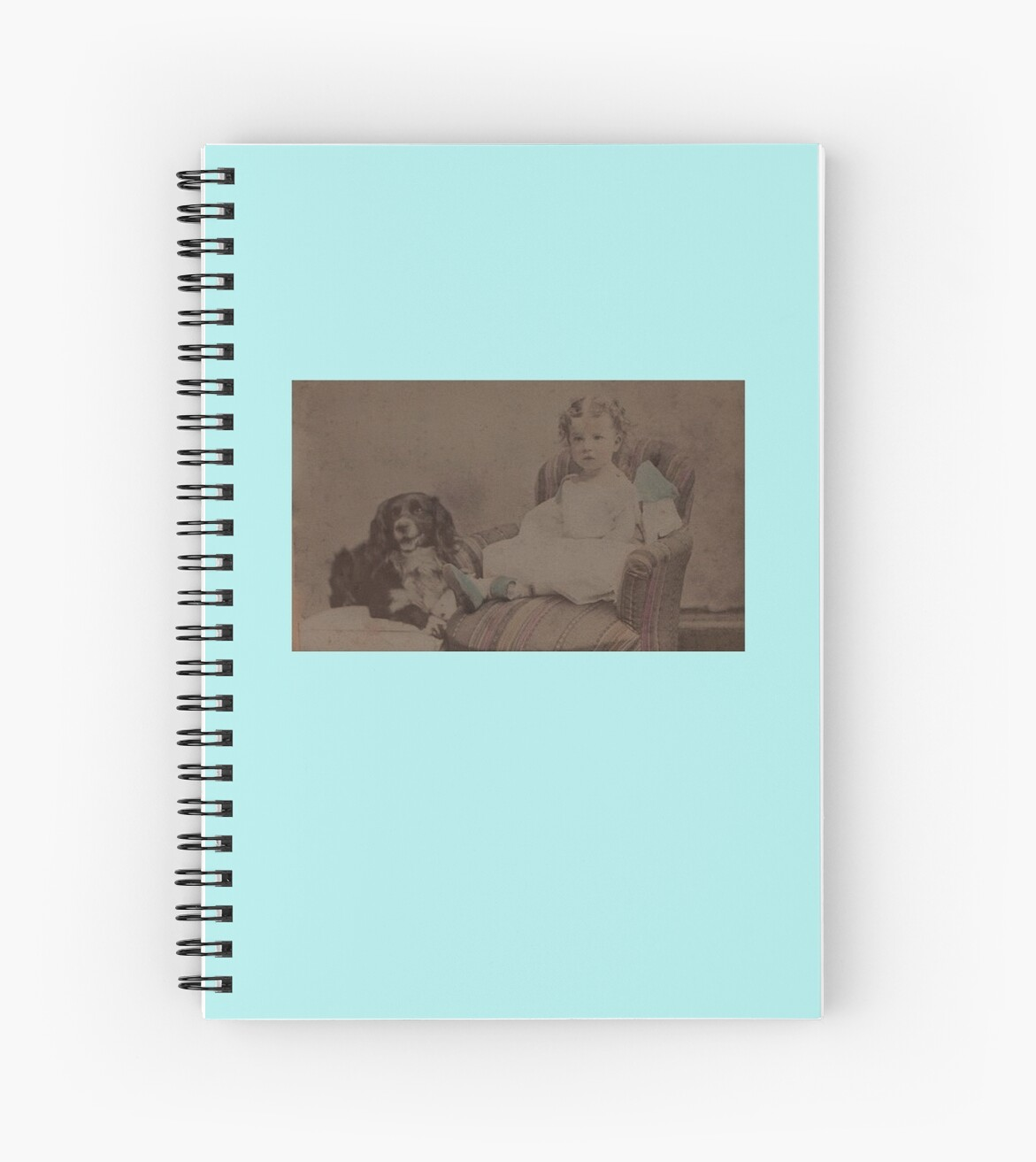 CDV tinted toddler et Spaniel by gaelcee