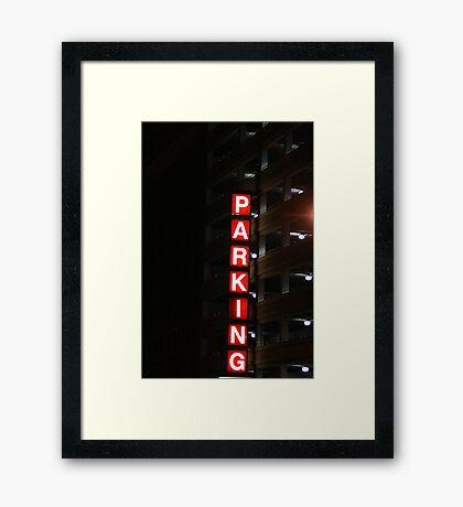 Lighted Parking Framed Print