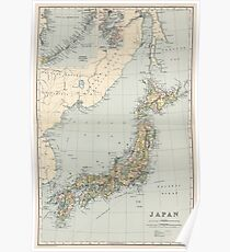 Old Japan Geography Posters Redbubble - Japan map poster