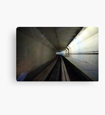 Sci-fi Tunnel, Stansted Airport, London, EU  Canvas Print