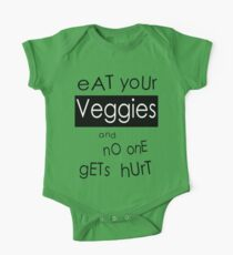 Eat Your Veggies and No One Gets Hurt One Piece - Short Sleeve