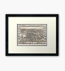 Vintage Map of Jersey City NJ (1883) Framed Print
