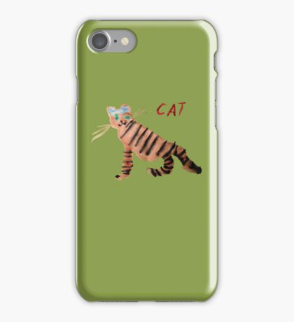 Cat on Green iPhone Case/Skin
