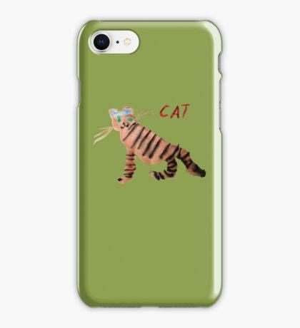 Cat on Green iPhone Case/Skin