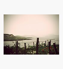 Cottage by the sea in Barra Photographic Print