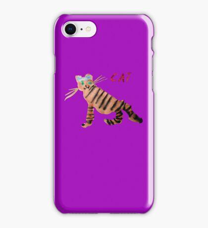 Cat on Purple iPhone Case/Skin
