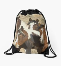 Painted Sisters-Signed-2603 Drawstring Bag
