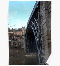 Iron bridge & church  Poster