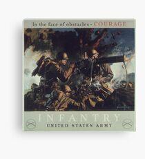 U.S. Infantry Vintage Poster Canvas Print