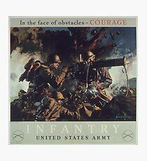 U.S. Infantry Vintage Poster Photographic Print