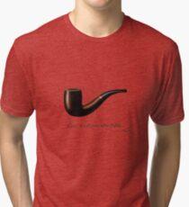 ceci n'est pas une pipe Tri-blend T-Shirt