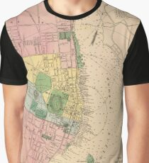 Vintage Map of Halifax Nova Scotia (1878) Graphic T-Shirt