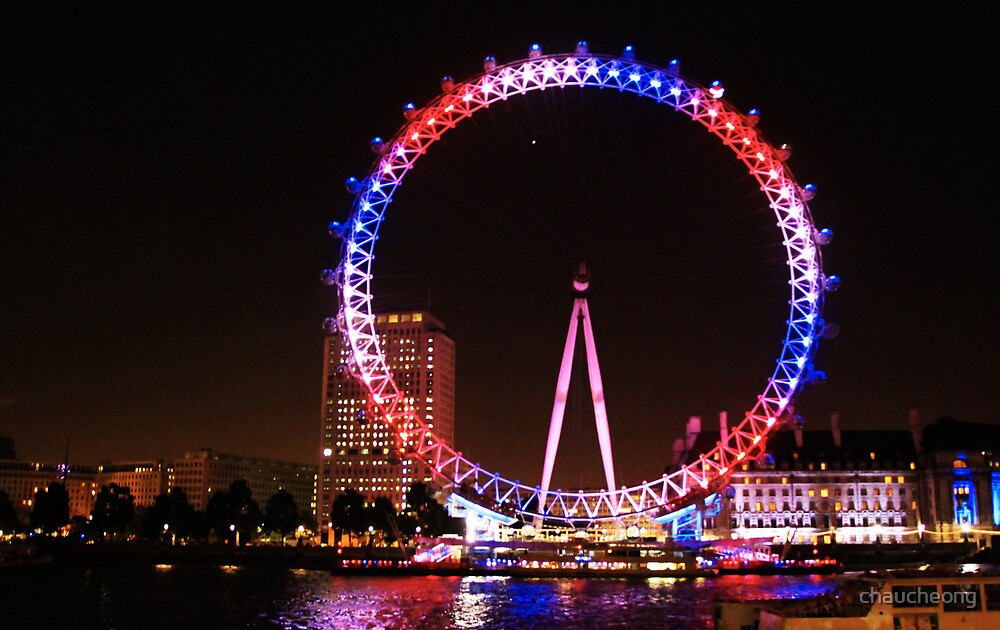 Quot London Eye In Union Jack Lighting Scheme Quot By Chaucheong