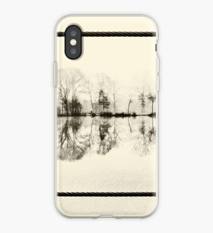 Misty morning in the park iPhone Case