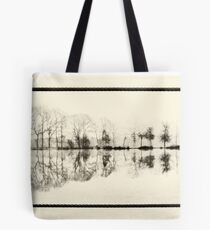 Misty morning in the park Tote Bag