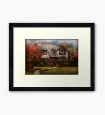 Cottage - Westfield, NJ - The country life Framed Print