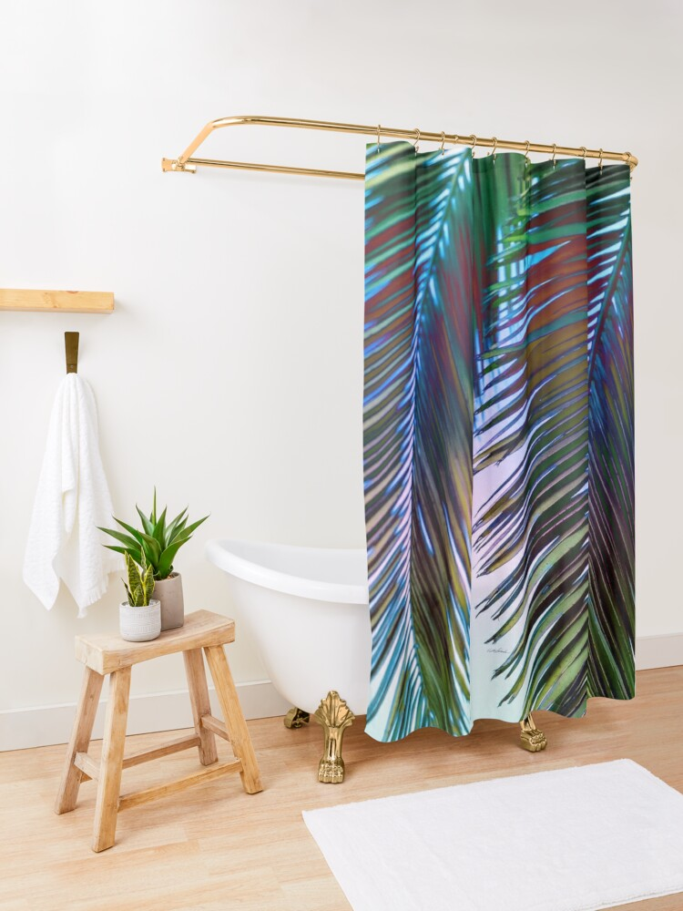 Alternate view of Western Sunset Shower Curtain