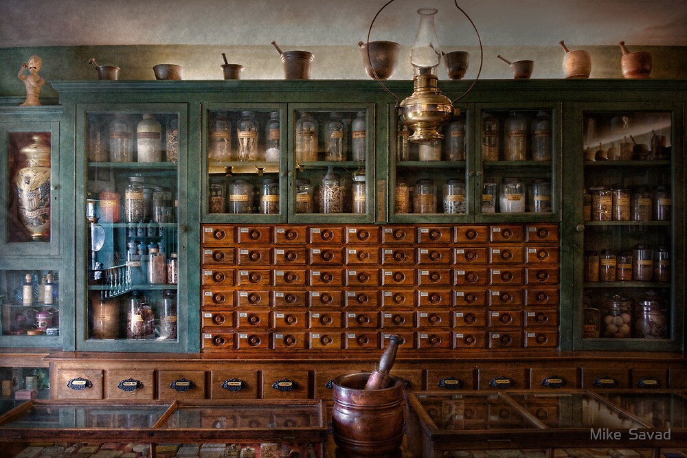 Pharmacy - Right behind the counter by Mike  Savad