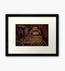 Pharmacy - The Rheumatic Cure wagon  Framed Print