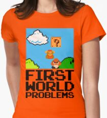 First World Problems (Black) Women's Fitted T-Shirt