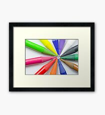 Woodless Colored Pencil Heads Macro Closeup Framed Print