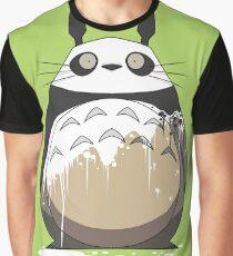 Totoro Painting Panda Graphic T-Shirt