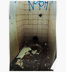 Broken Bathroom Poster