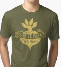 Schrute Farms B&B (no circles) Tri-blend T-Shirt