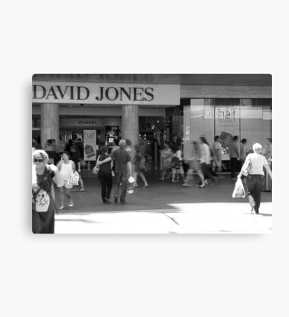 Boxing Day Rush! Canvas Print