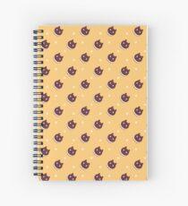 Cookie Cat Pattern (Orange) Spiral Notebook
