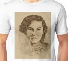 1930's Lady with Scarf Unisex T-Shirt