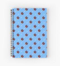Cookie Cat Pattern (Blue) Spiral Notebook