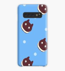 Cookie Cat Pattern (Blue) Case/Skin for Samsung Galaxy