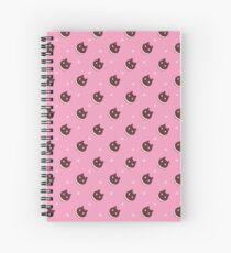 Cookie Cat Pattern (Pink) Spiral Notebook