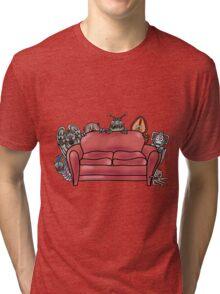 Behind the sofa Tri-blend T-Shirt