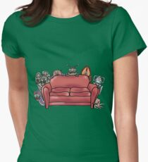 Behind the sofa Womens Fitted T-Shirt