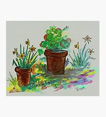 Watercolor - Ode to Spring Photographic Print
