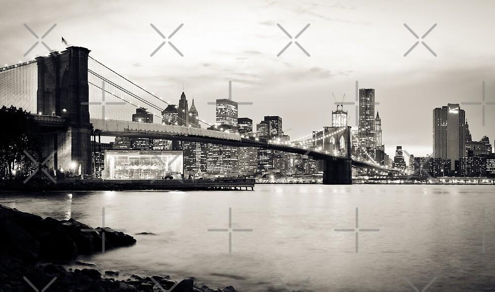 Brooklyn Bridge - New York City | B/W by thomasrichter