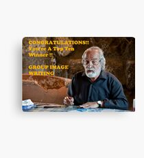 Banner for Group Image Writing Canvas Print
