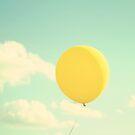 yellow balloon by beverlylefevre