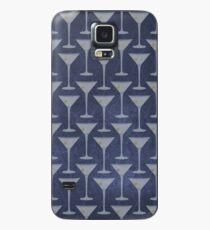Blue Martinis Pattern Hülle & Klebefolie für Samsung Galaxy