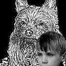 Great Grandson and myYorkie by shadyuk
