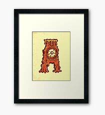 A is for Abomination Framed Print