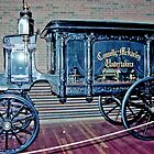 The Horse-Drawn Hearse, Fort Edmonton, Alberta, Canada by Adrian Paul