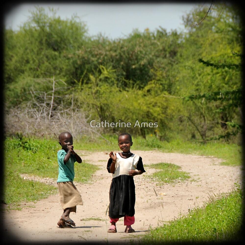 Playful kids, Tanzania by Catherine Ames