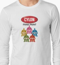 Cylon Frak Paint Long Sleeve T-Shirt