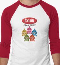 Cylon Frak Paint Men's Baseball ¾ T-Shirt